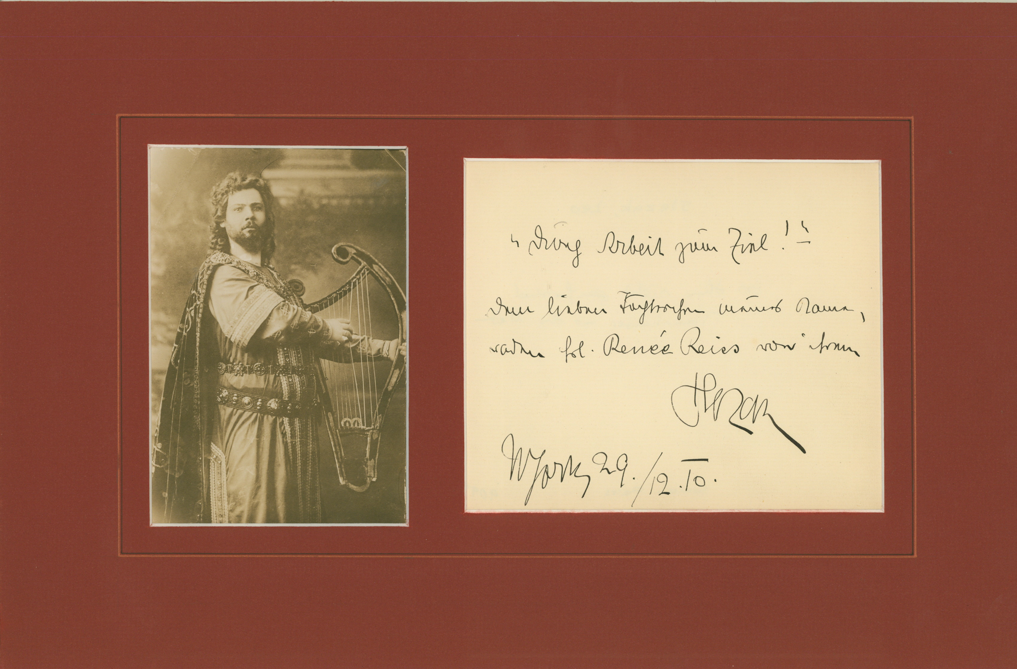 Slezak, Leo - Ensemble With Signature & Photo Tannhäuser.. - (2400)