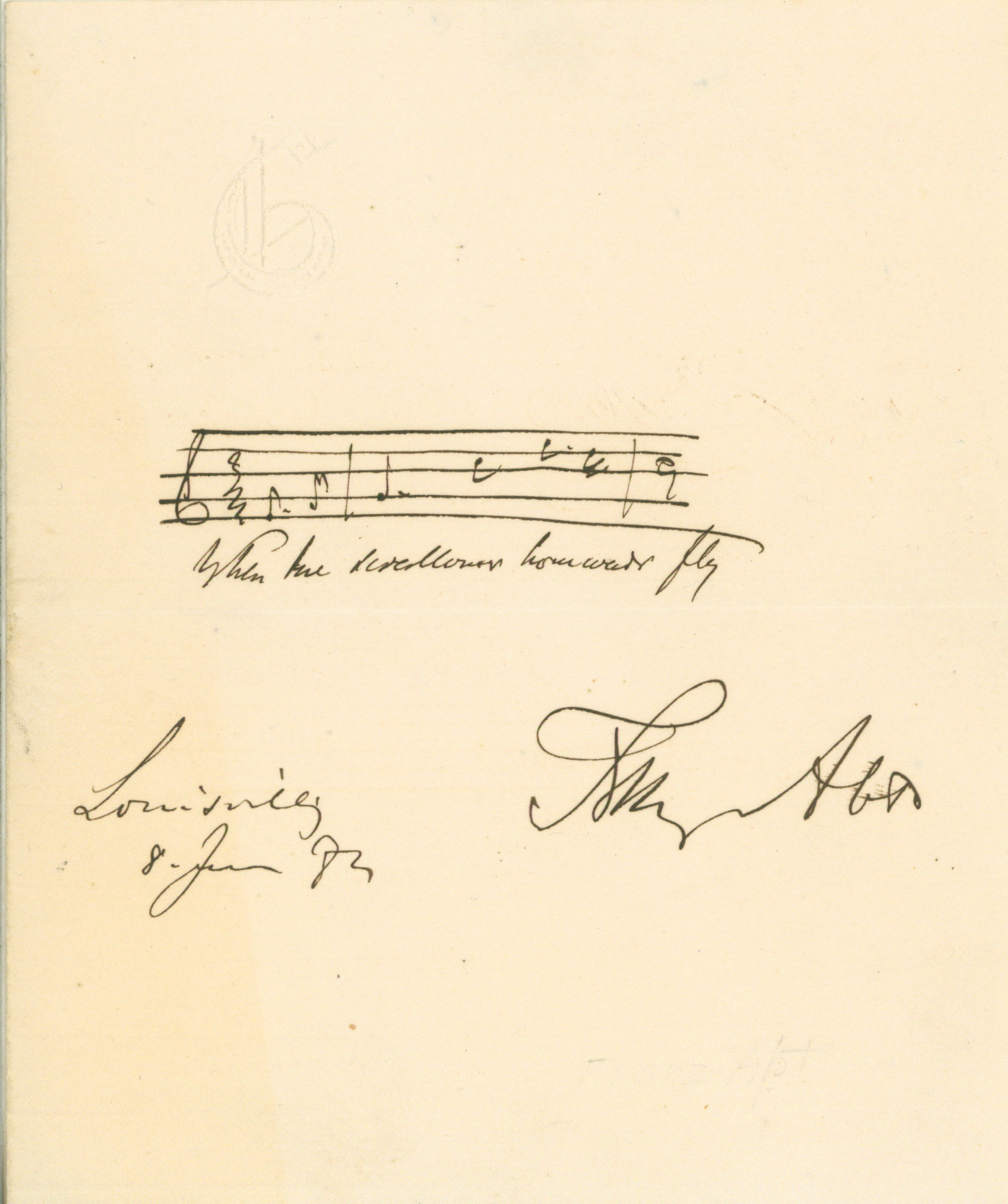 Abt, Franz - Autograph Musical Quotation Signed - (5923)