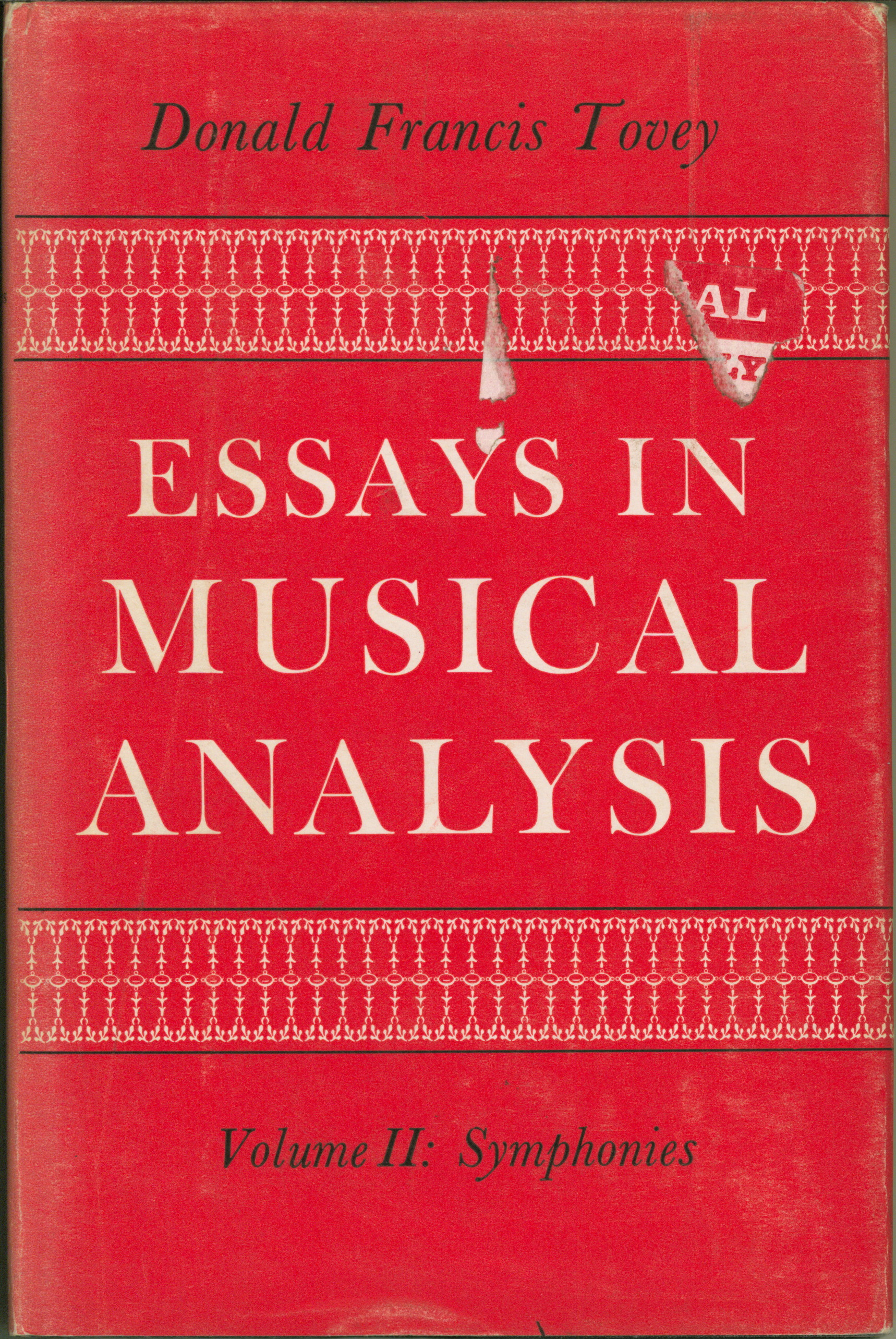 Tovey, Donald Francis - Essays In Musical Analysis Vols. I-VI. - (5707)