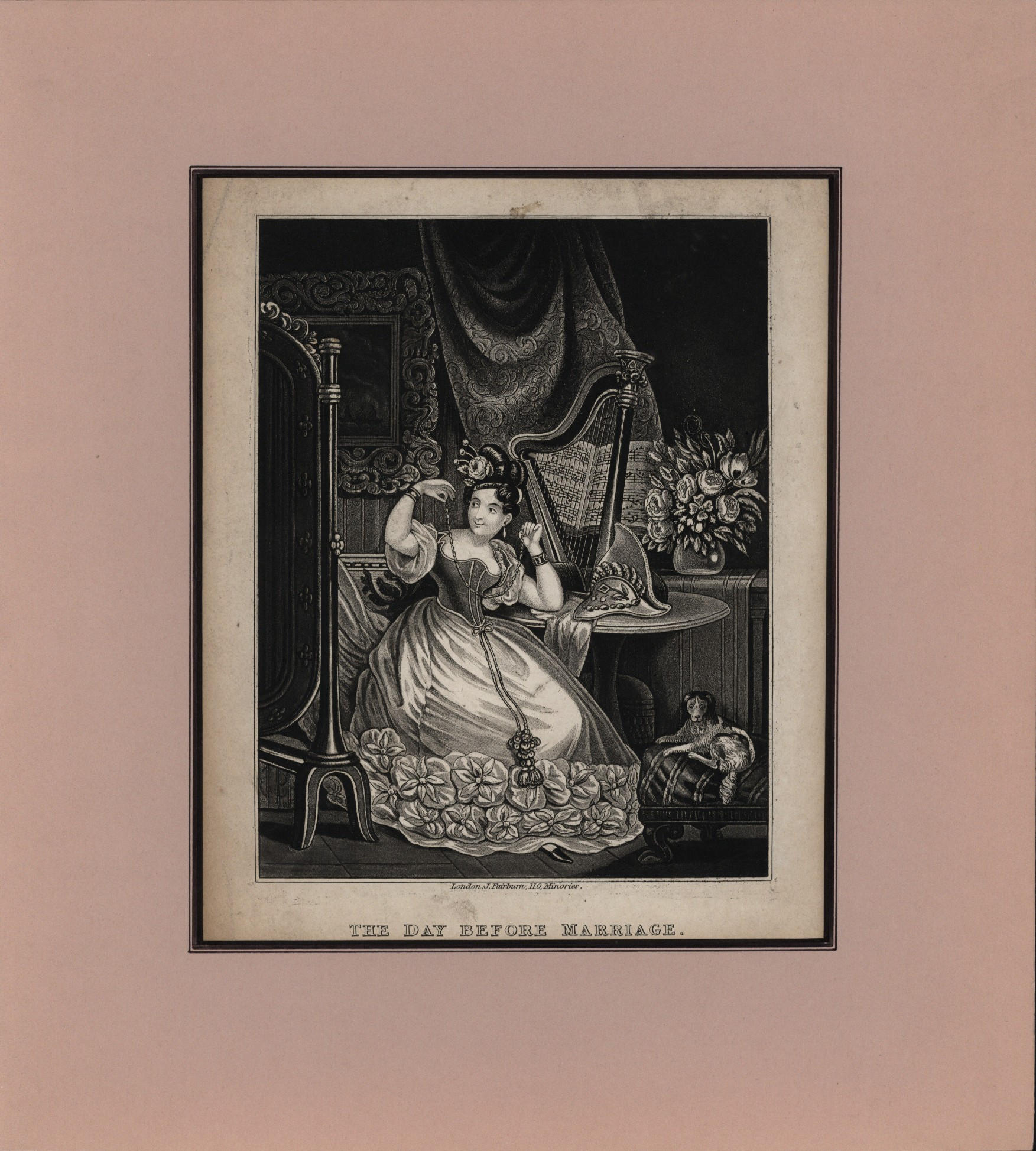 """The Day Before Marriage"" - Mezzotint. - (1560)"