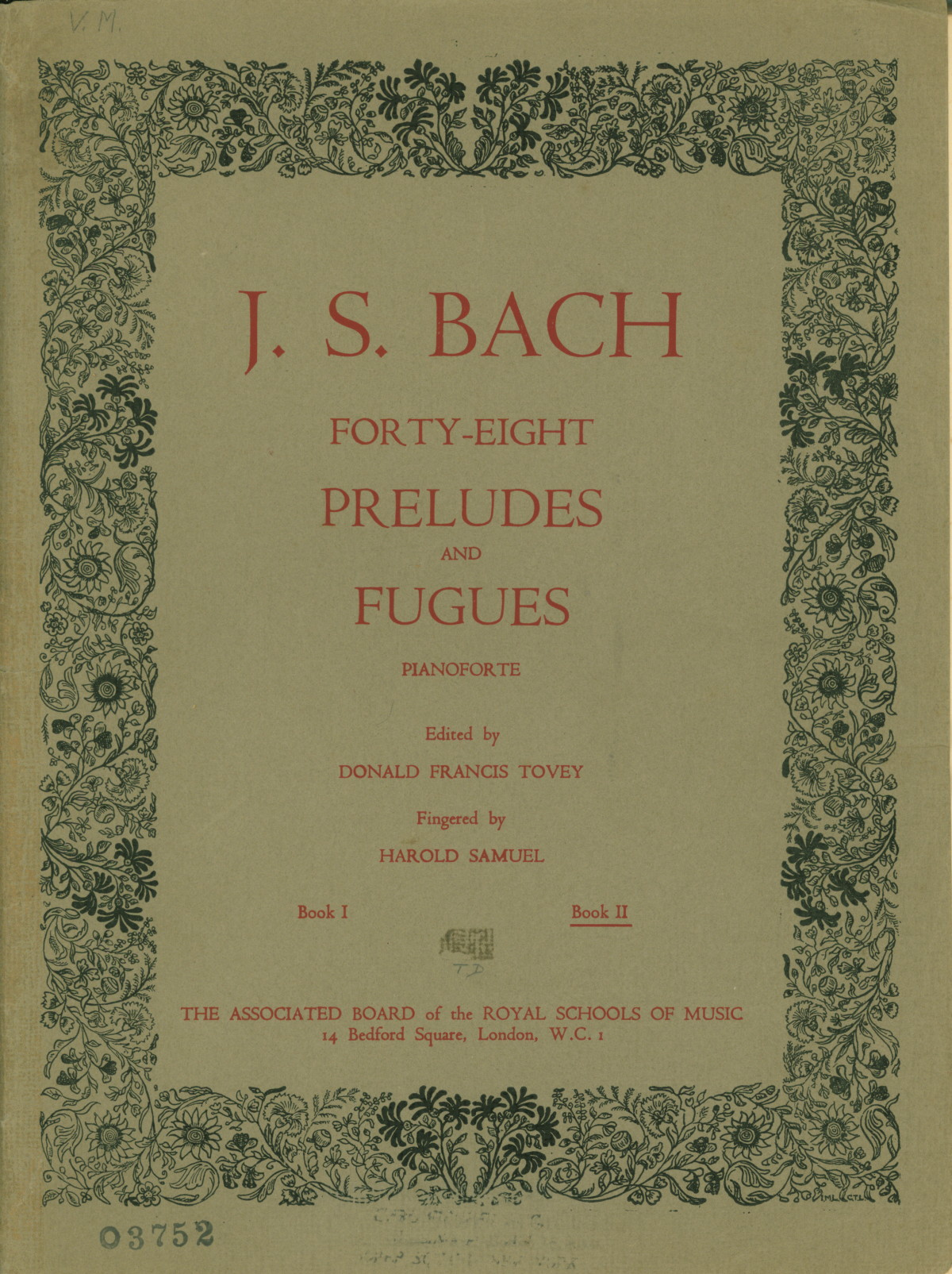 Bach, Johann Sebastian - Forty-Eight Preludes And Fugues. Book II. - (4294)
