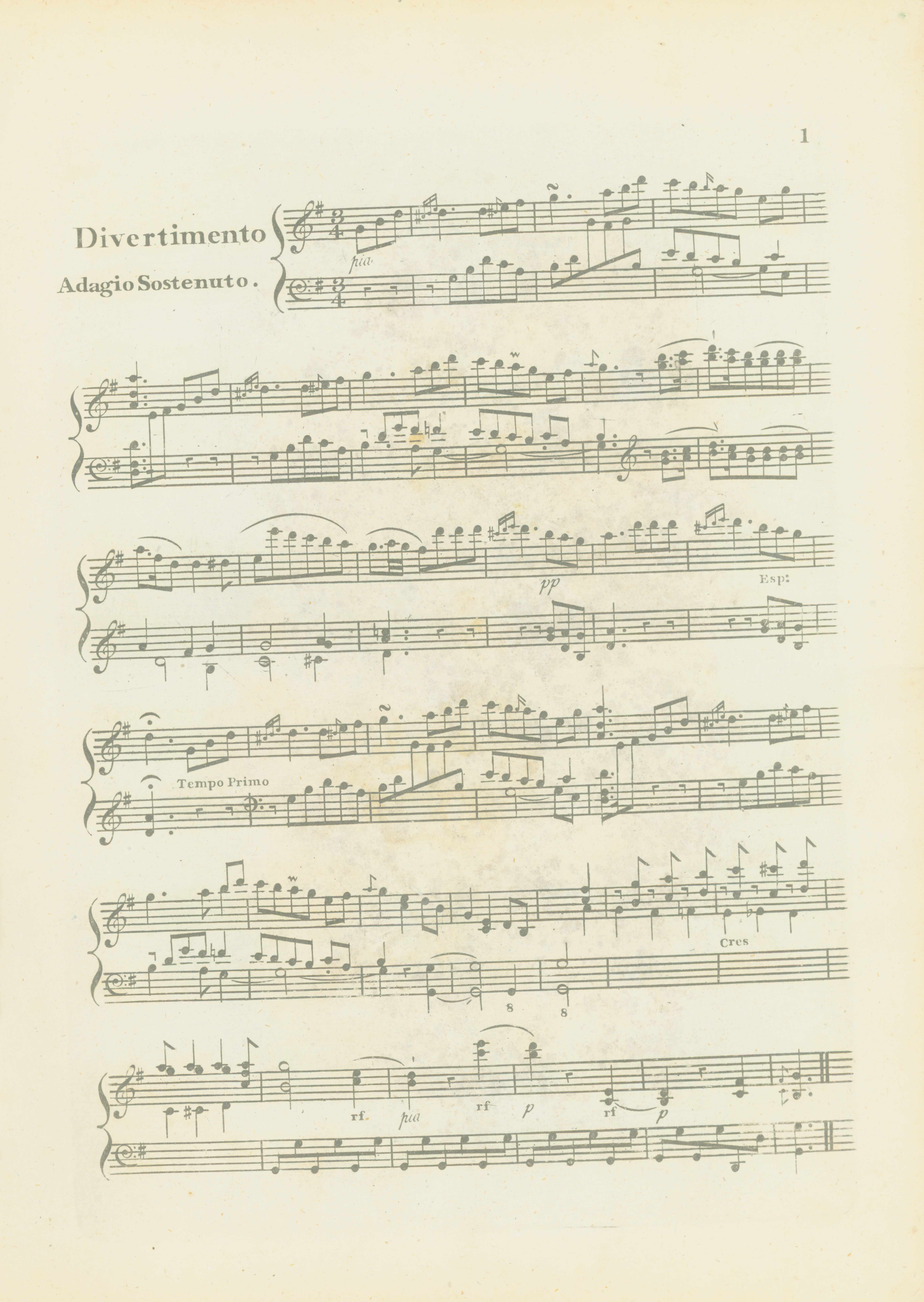 Southwell, F.W. - A Scotch, Divertimento For The Pianoforte, With Addl. Keys. - (7139)