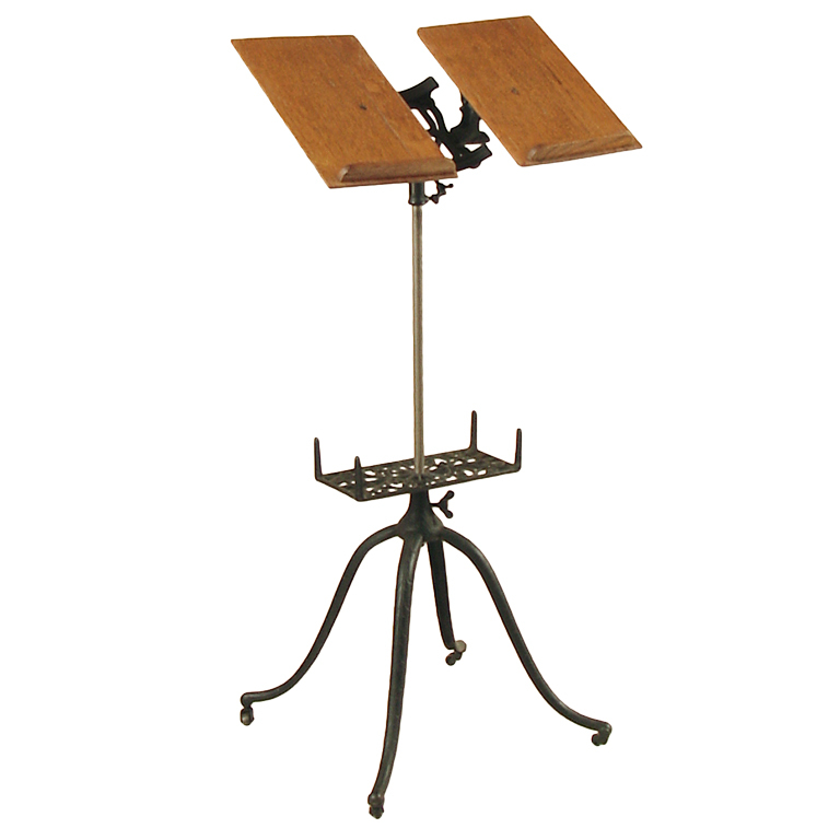 Music Stand - Wood & Metal Conductor's Stand. - (3511)