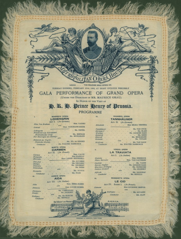 Metropolian Opera Silk Program - A Much-heralded 1902 Grand Gala. - (2569)