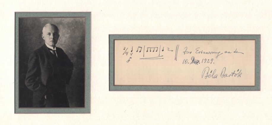 Bartók, Béla - Ensemble With Autograph Musical Quotation Signed - (1762)