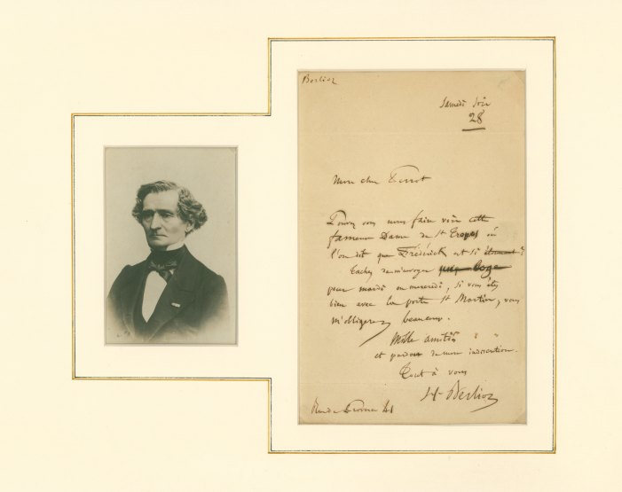 Berlioz, Hector - Ensemble With Portrait And Autograph Letter Signed - (6073)