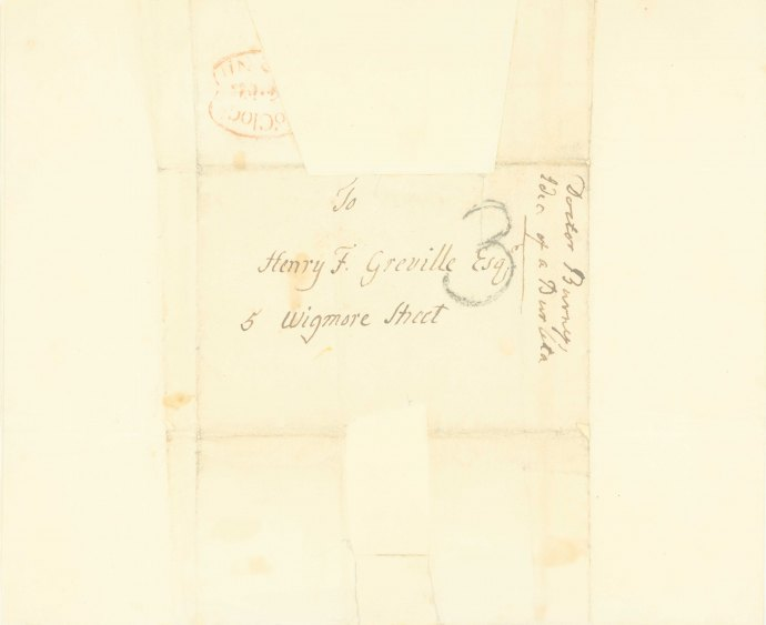 Burney, Charles - Autograph Letter Signed - (6739)