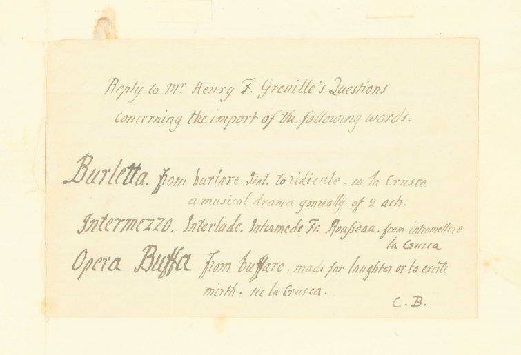 Burney, Charles - Autograph Letter Signed - (6741)