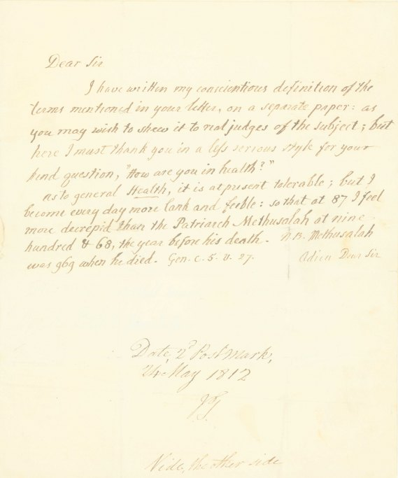 Burney, Charles - Autograph Letter Signed - (6740)
