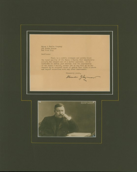 Glazunov, Aleksandr - Ensemble With Typed Letter Signed - (5767)