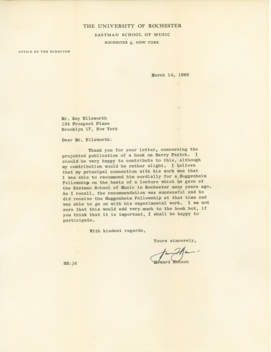 Hanson, Howard - Typed Letter Signed - (5991)