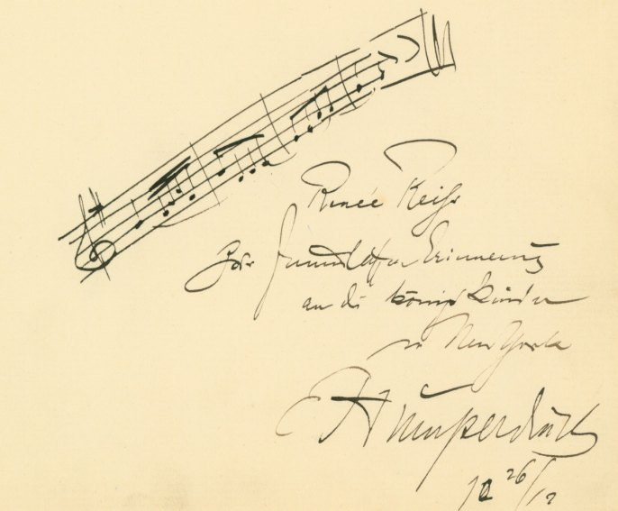 Humperdinck, Engelbert - Autograph Musical Quotation At Time Of <i>Königskinder</i> Premiere - (2422)