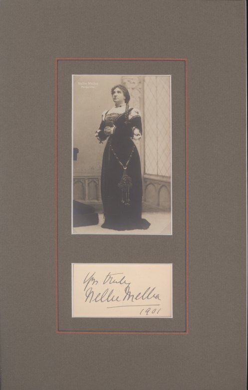 Melba, Nellie - Ensemble With Signature And Photograph As Marguerite. - (2186)