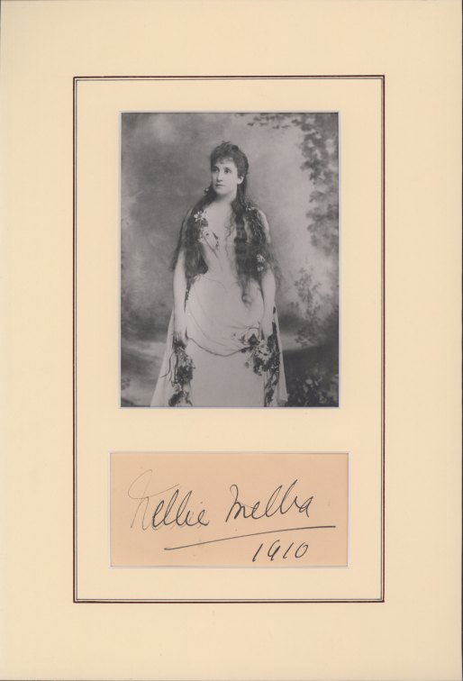 Melba, Nellie - Ensemble With Signature & Photo As Ophelia. - (2198)