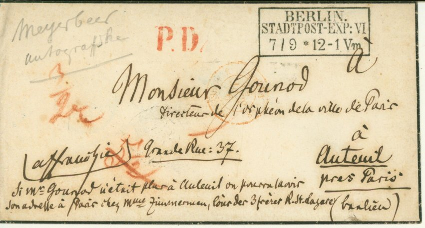 Meyerbeer, Giacomo - Autograph Letter Signed - (5885)