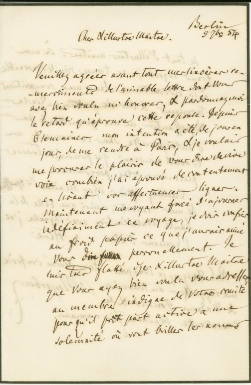 Meyerbeer, Giacomo - Autograph Letter Signed - (5883)