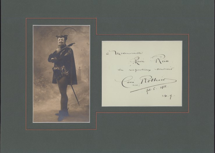 Rothier, Léon - Ensemble With Signature And Photograph As Mephistopheles. - (2181)