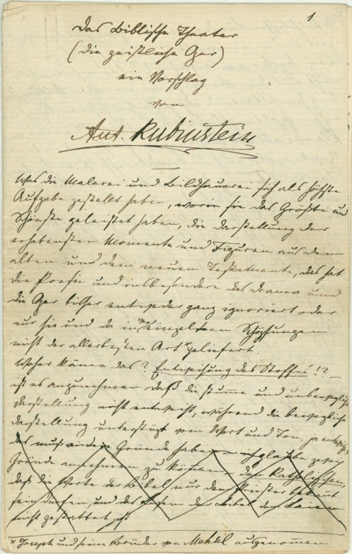 Rubinstein, Anton - Autograph Letter And Proposal Signed - (6034)