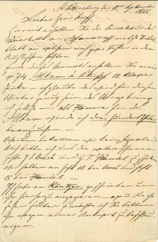 Rubinstein, Anton - Autograph Letter And Proposal Signed - (6035)