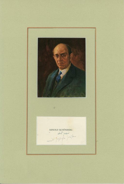 Schoenberg, Arnold - Signature And Portrait. - (4905)
