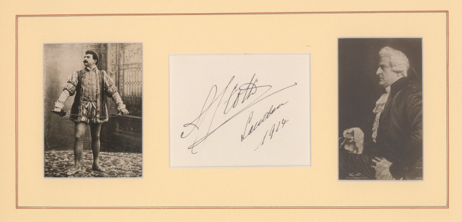 Scotti, Antonio - Ensemble With Signature & Two Photos, As Don Giovanni & Scarpia. - (2176)