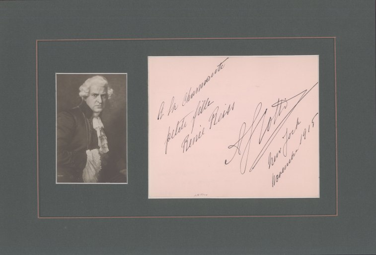 Scotti, Antonio - Ensemble With Signature And Photograph As Scarpia. - (2272)