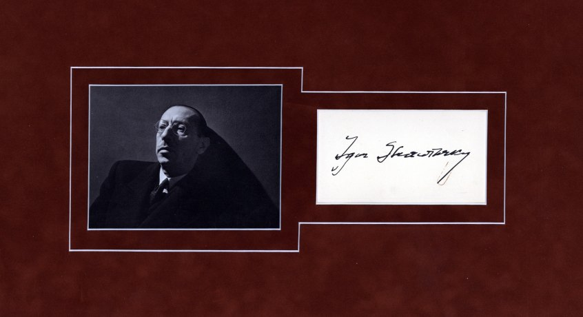 Stravinsky, Igor - Ensemble With Signature And Photograph. - (1490)