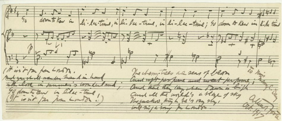 Foote, Arthur - Autograph Musical Quotation Signed - (6041)