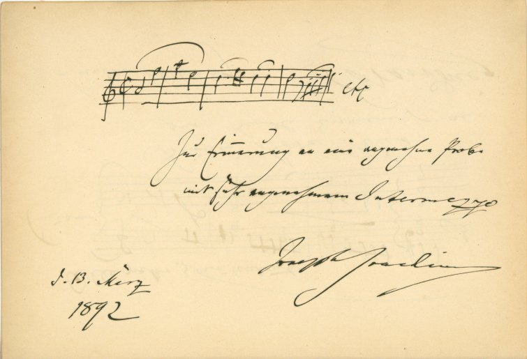 Grieg And Joachim Autograph Musical Quotations - Keith Prowse & Company - (5920)