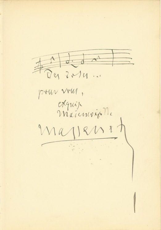 Massenet, Jules - Autograph Musical Quote - (4205)