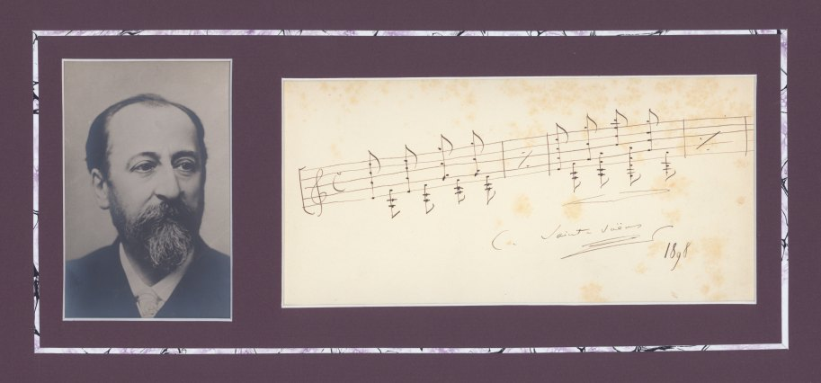 Saint-Saëns, Camille - Ensemble With Photograph And Musical Quotation Signed - (6069)