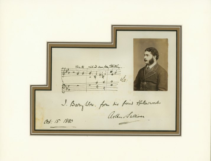 Sullivan, Arthur - Ensemble With Autograph Quotation - (4919)