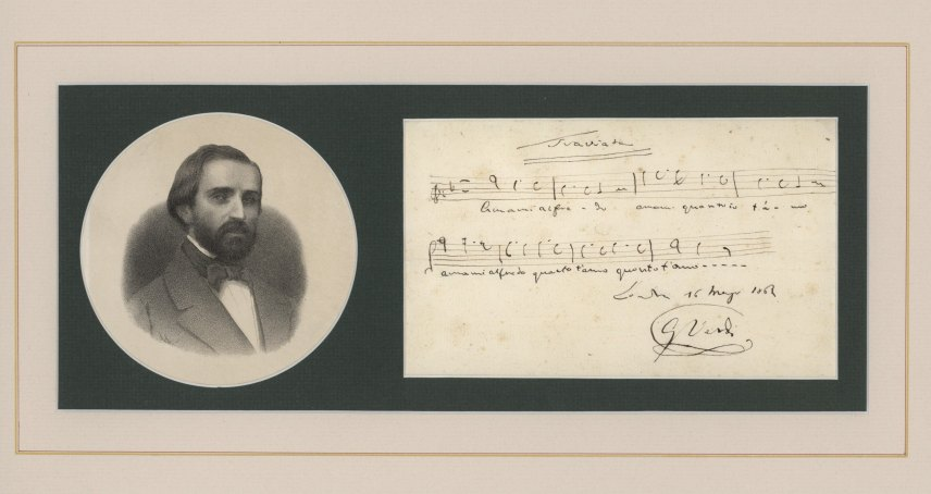 Verdi, Giuseppe - Autograph Musical Quotation - (4961)