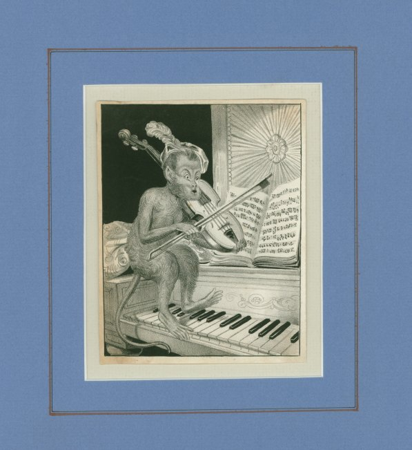 Caricature - Monkey Playing Violin - (5695)