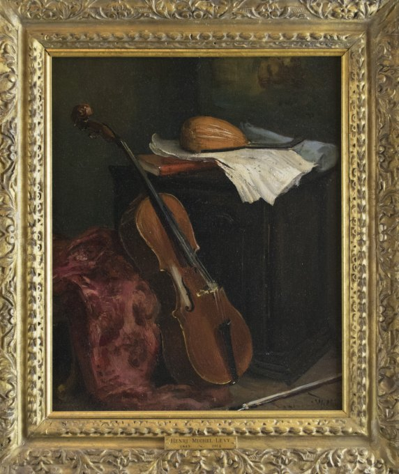 Cello - Oil Painting - Michel-Lévy, Henri - (3552)