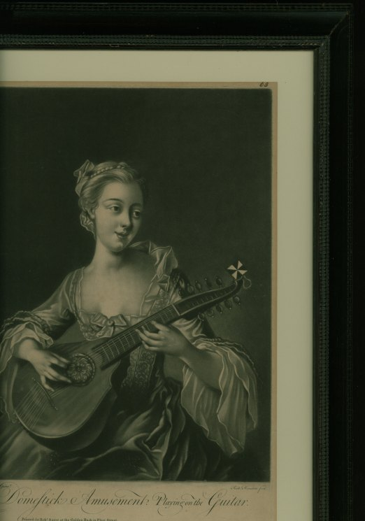 Cittern - Mezzotint Engraving - Houston, Richard - (5486)