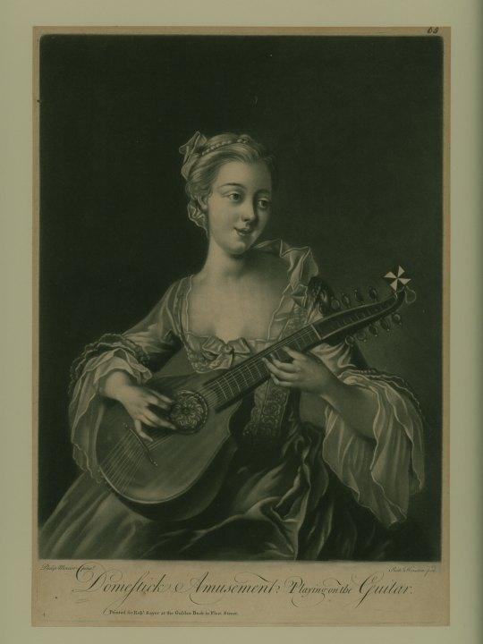 Cittern - Mezzotint Engraving - Houston, Richard - (5485)