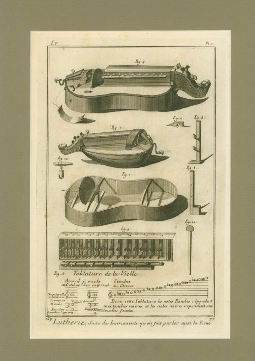 Hurdy-gurdy - Engraved Plates - Diderot Et D'Alembert - (5291)