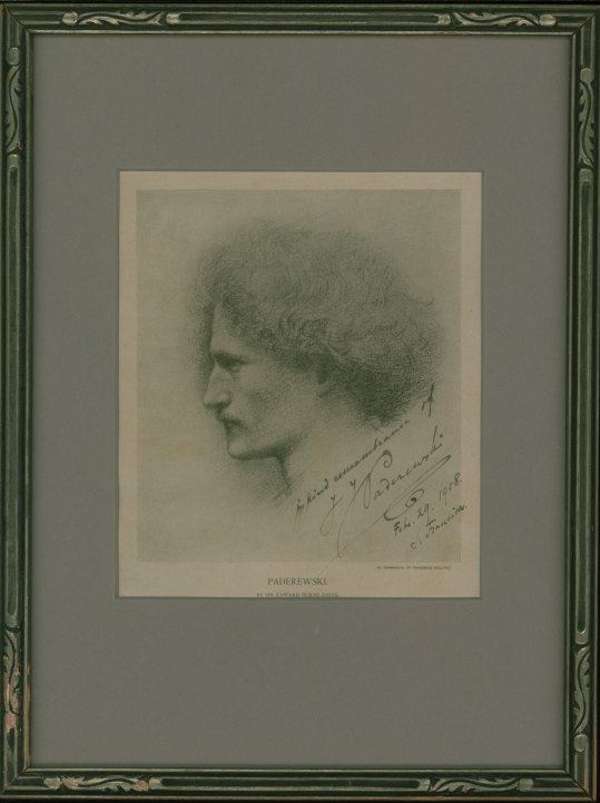 Paderewski, Ignace Jan - Signed Portrait. - (3994)