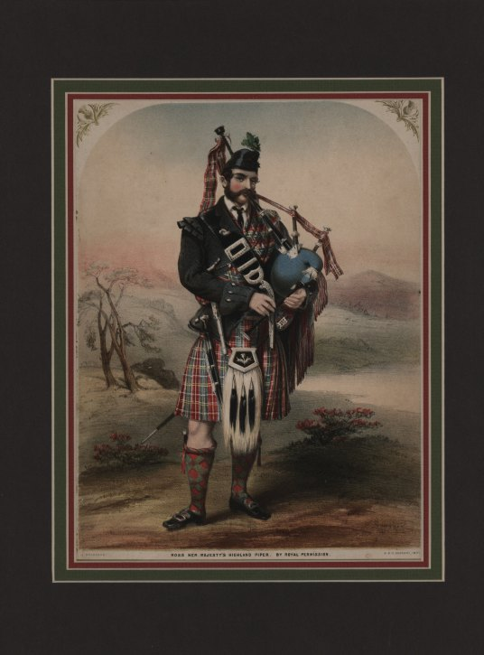 "Bagpiper - ""Ross Her Majesty's Highland Piper"". - (1561)"