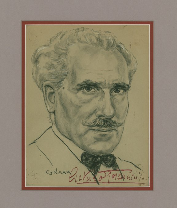 Toscanini, Arturo - Original Signed Portrait Drawing. - (3775)