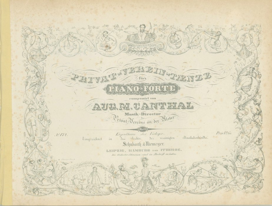 Canthal, August M. - Collection Of Dances: Opp. 54, 57, 62. - (7117)