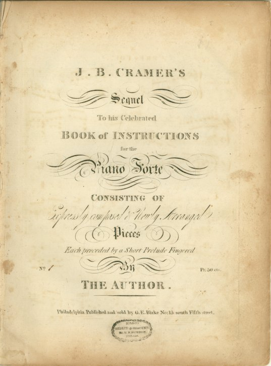 Cramer, J.B. - J.B. Cramer's Sequel To His Celebrated Book Of Instructions For The Piano Forte... - (6153)