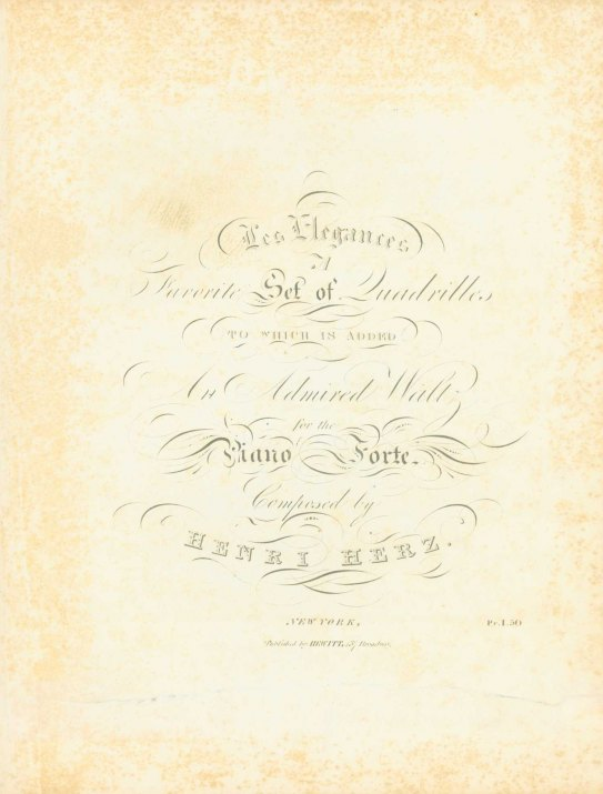 Herz, Henri - Les Coquettes, Two Favorite Setts Of Quadrilles, Arranged In An Easy Style For... - (6622)