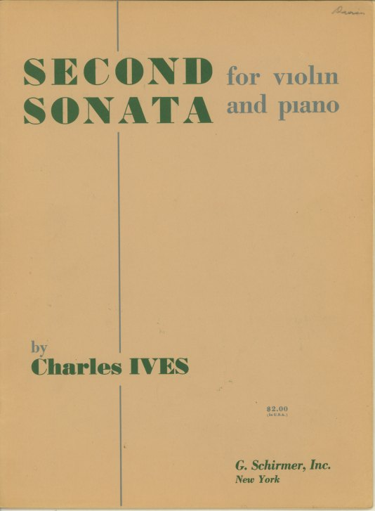 Ives, Charles - Second Sonata For Violin And Piano. - (7673)