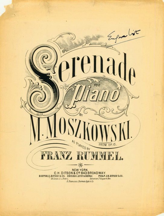 Moszkowski, Moritz - Serenade For The Piano. From Op. 15 [No. 1, Serenata], As Played By Franz... - (6675)