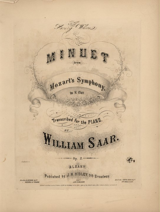 "Mozart, W.A. - Symphony No. 39, K543, Minuet, Arranged, ""Minuet From Mozart's Symphony In E Flat... - (1426)"