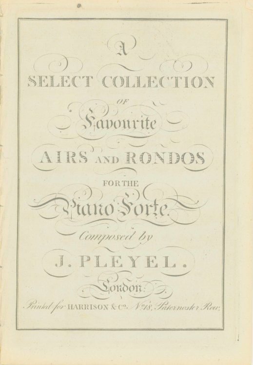 Pleyel, Ignaz - A Select Collection Of Favourite Airs And Rondos For The Piano Forte. - (7042)