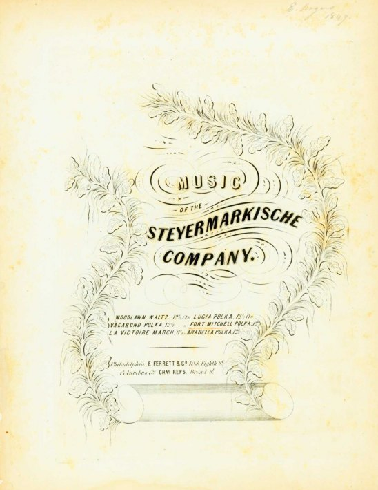 Rziha, Francis - Music Of The Steyermarkische Company. Fort Mitchell Polka. - (6777)