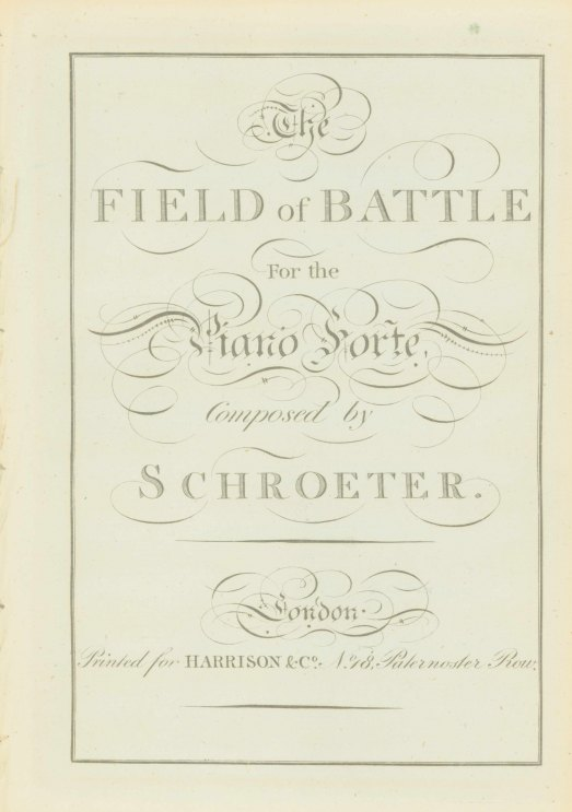 Schroeter, J.S. - The Field Of Battle For The Piano Forte. - (7043)